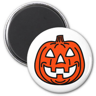 Cool smiling pumpkin 2 inch round magnet