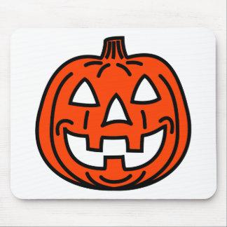 Cool smiling pumpkin mousepad