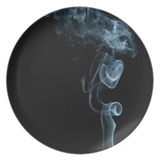 cool smoke dinner plate