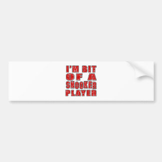 Cool Snooker Designs Car Bumper Sticker