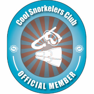 Cool Snorkelers Club Photo Sculpture Ornament