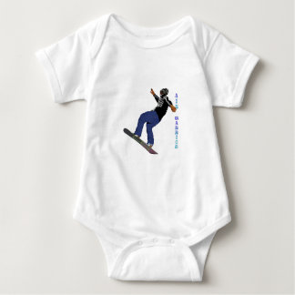 Cool SNOW BOARDER Collection Baby Bodysuit