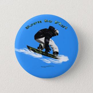 Cool Snow Boarder Winter Sports Theme Button