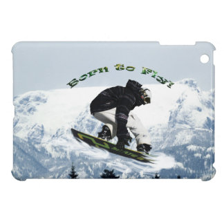 Cool Snow Boarder Winter Sports Theme iPad Mini Case