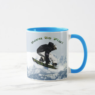 Cool Snow Boarder Winter Sports Theme Mug