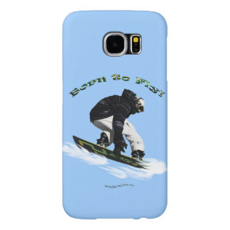 Cool Snow Boarder Winter Sports Theme Samsung Galaxy S6 Cases