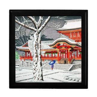 Cool snow in iwashimizu hachiman shrine kyoto jewelry box