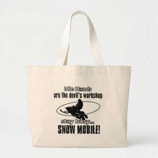 Cool SNOW MOBILING designs Bags