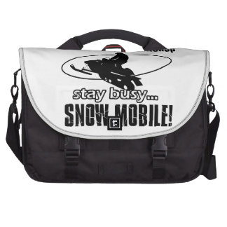 Cool SNOW MOBILING designs Laptop Bags