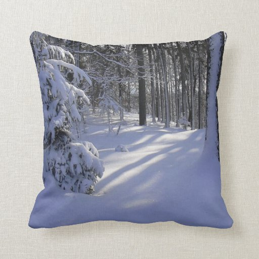 Cool Couch Pillows Of Cool Snow Throw Pillows Zazzle