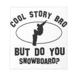 cool snowboard designs memo pad