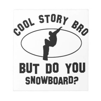 cool snowboard designs notepad