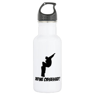Cool snowboard designs stainless steel water bottle