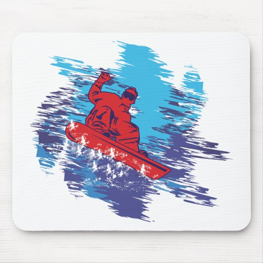 Cool Snowboarder Mouse Pad