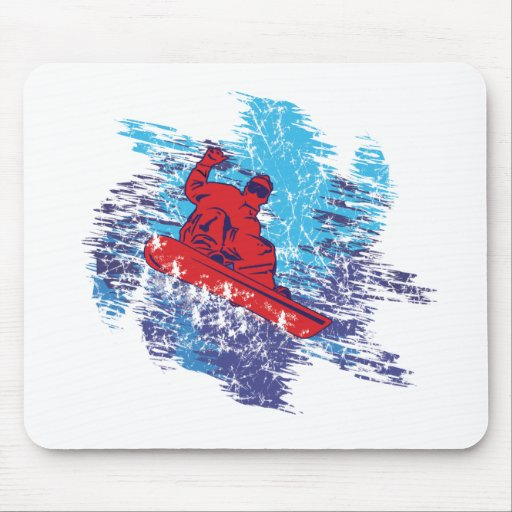 Cool Snowboarder Mouse Pads