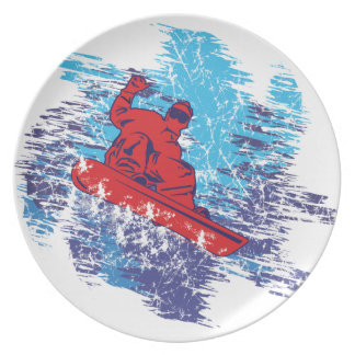 Cool Snowboarder Party Plates