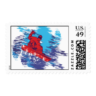 Cool Snowboarder Postage