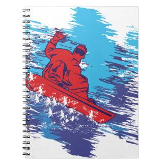 Cool Snowboarder Spiral Notebook