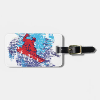 Cool Snowboarder Tag For Luggage