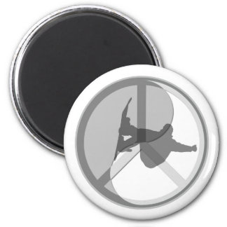 Cool snowboarding 2 inch round magnet