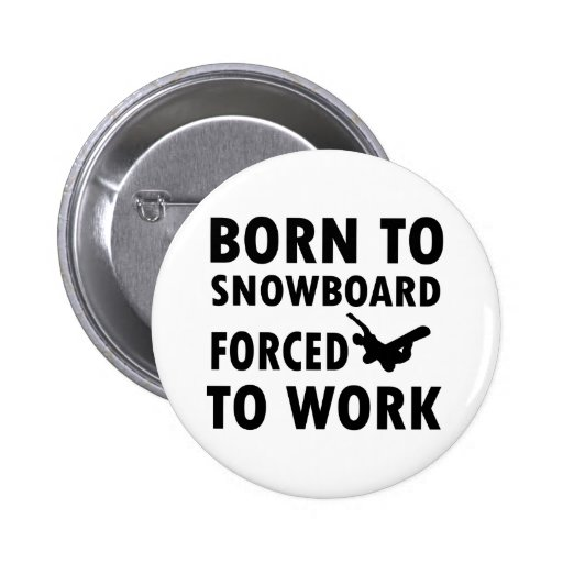 Cool Snowboarding Designs Button