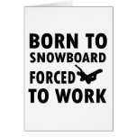 Cool Snowboarding Designs Cards