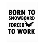 Cool Snowboarding Designs Post Cards