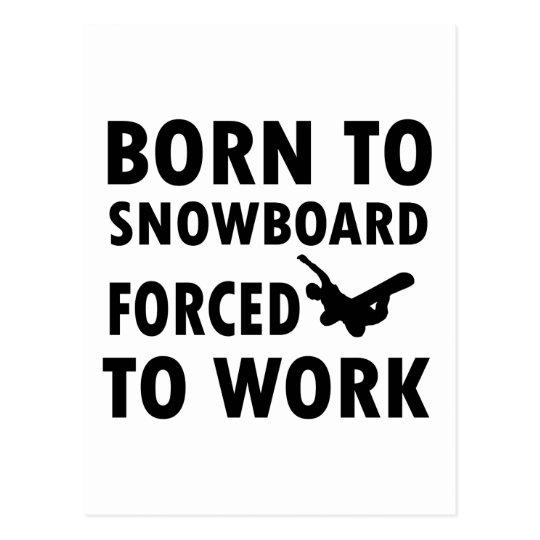 Cool Snowboarding Designs Postcard