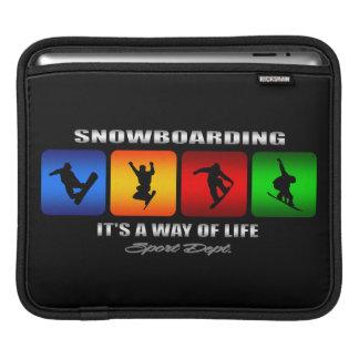 Cool Snowboarding It Is A Way Of Life iPad Sleeve