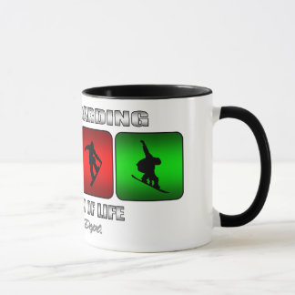 Cool Snowboarding It Is A Way Of Life Mug