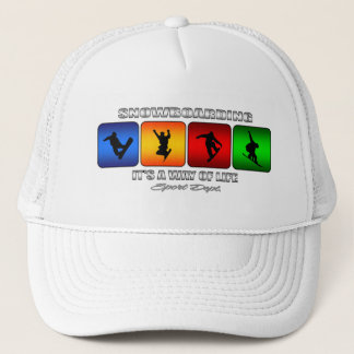 Cool Snowboarding It Is A Way Of Life Trucker Hat