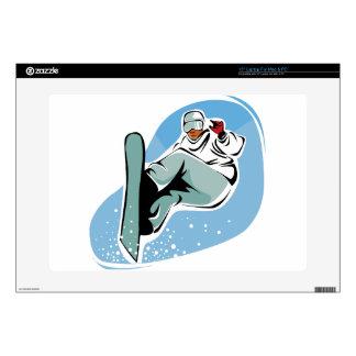 """Cool Snowboarding Man 15"""" Laptop Skin"""