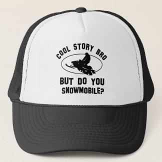 cool snowmobile designs trucker hat
