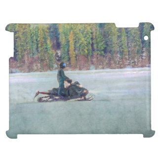 Cool Snowmobiler on Ice Lake Winter Sports Theme Case For The iPad 2 3 4
