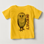 Cool snowy owl baby t-shirt design