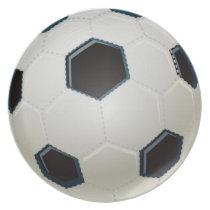 cool soccer ball plates