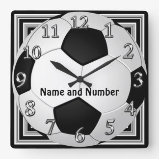 Cool Soccer Clocks Bursting Out YOUR NAME, NUMBER