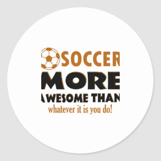 Cool Soccer designs Classic Round Sticker