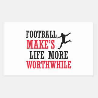 Cool soccer designs rectangular sticker