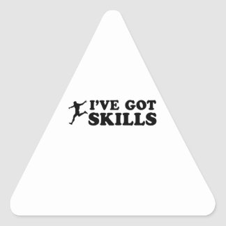 cool soccer designs triangle sticker