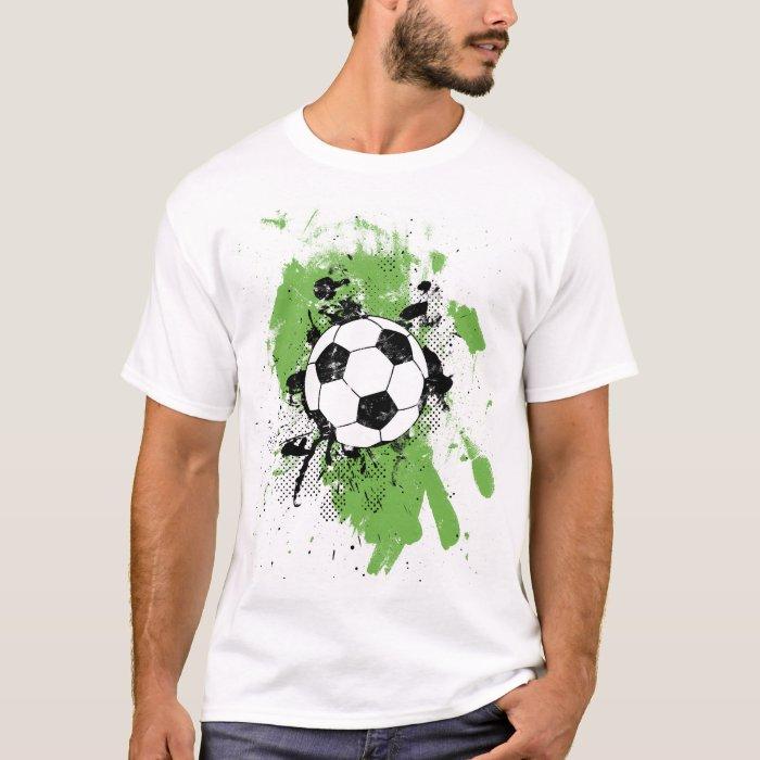 Cool soccer football art illustration t shirt zazzle for Cool football t shirts