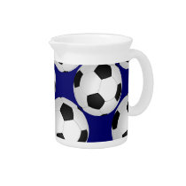 cool soccer football ball drink pitcher