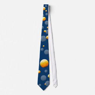 Cool Soccer Football Pattern Blue Tie