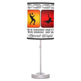 Cool Soccer It Is A Way Of Life Desk Lamp