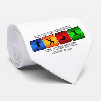 Cool Soccer It Is A Way Of Life Neck Tie