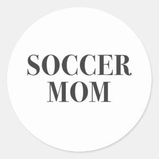 Cool Soccer Mom Slogan Print Classic Round Sticker