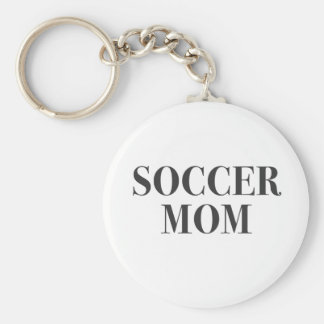 Cool Soccer Mom Slogan Print Keychain