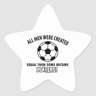 cool soccer player design star sticker