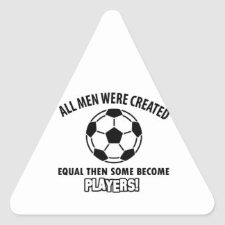 cool soccer player design triangle sticker