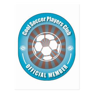 Cool Soccer Players Club Postcard